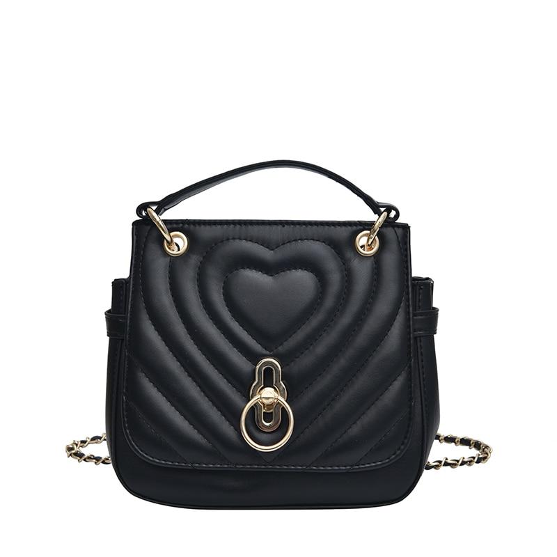Bag Leather Women Elegant Shoulder Bag Women Leather Bags Female Bolsos Sac Chains Luxury Handbags Designer