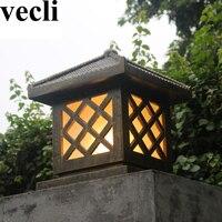 Mejor Nuevo y creativo focos de resina clásica jardín exterior villa residencial pasillo exterior luces para los