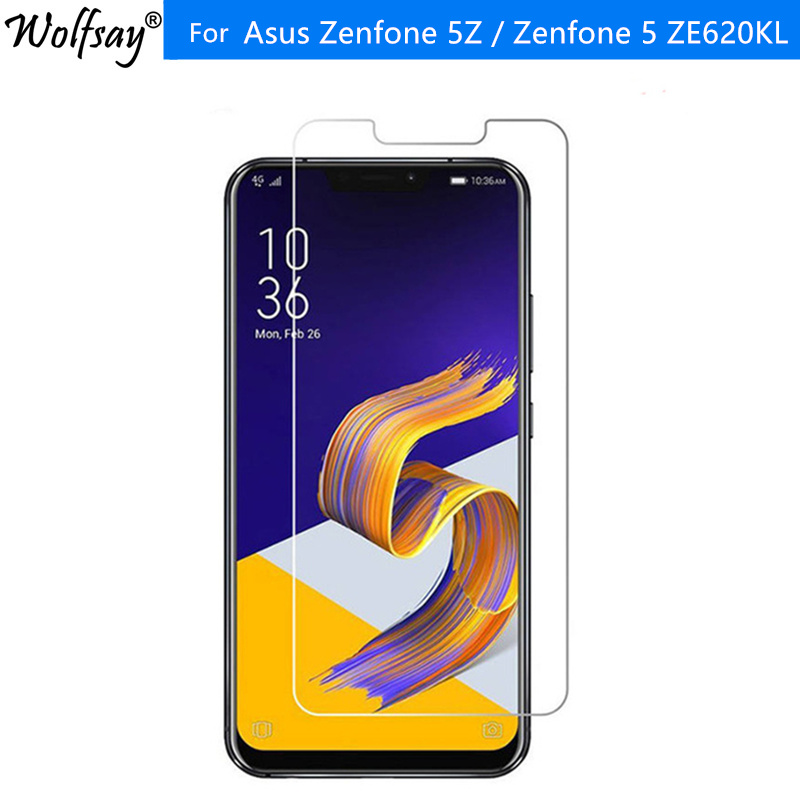 2PCS Tempered Glass <font><b>Asus</b></font> <font><b>Zenfone</b></font> 5Z / <font><b>Zenfone</b></font> 5 <font><b>ZE620KL</b></font> Screen Protector Explosion-proof Film For <font><b>ASUS</b></font> <font><b>Zenfone</b></font> 5Z ZS620KL Glass image
