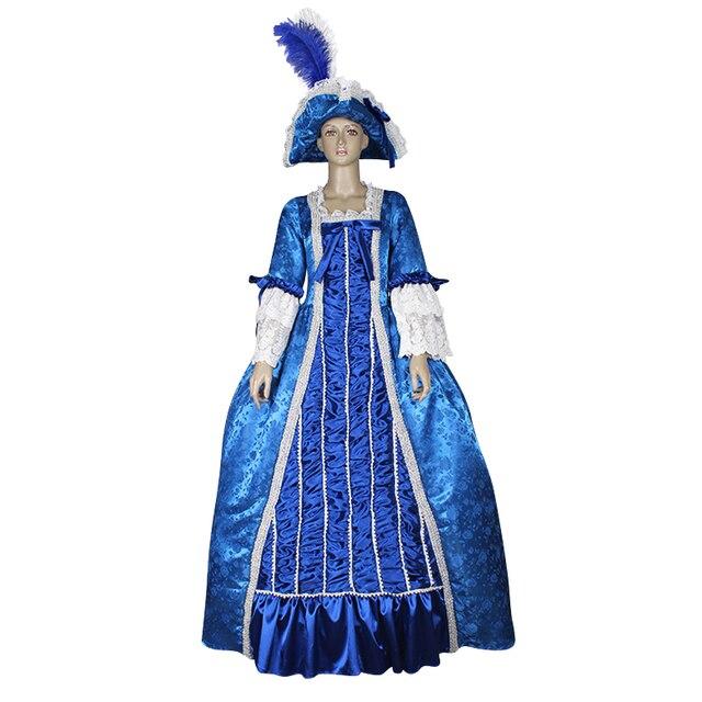 Marie Antoinette готические Бальные платья в викторианском стиле, винтажное платье в стиле «Civil War», костюм «Southern Belle» со шляпой, на заказ