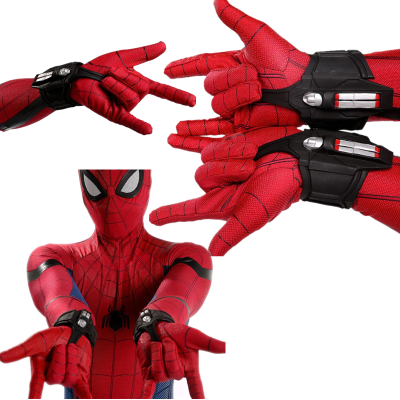 New 1:1 Spider Man Homecoming Cosplay Costumes Spiderman Peter Parker Superhero Weapons Web Shooter Props