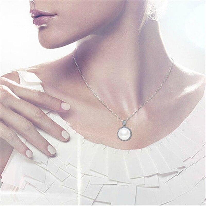 YIKALAISI 925 bizhuteri argjendi i pastër Bizhuteri Pearl, bizhuteri - Bizhuteri të bukura - Foto 5