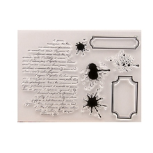 Words DIY Silicone Clear Stamp Cling Seal Scrapbook Embossing Album Decor Craft