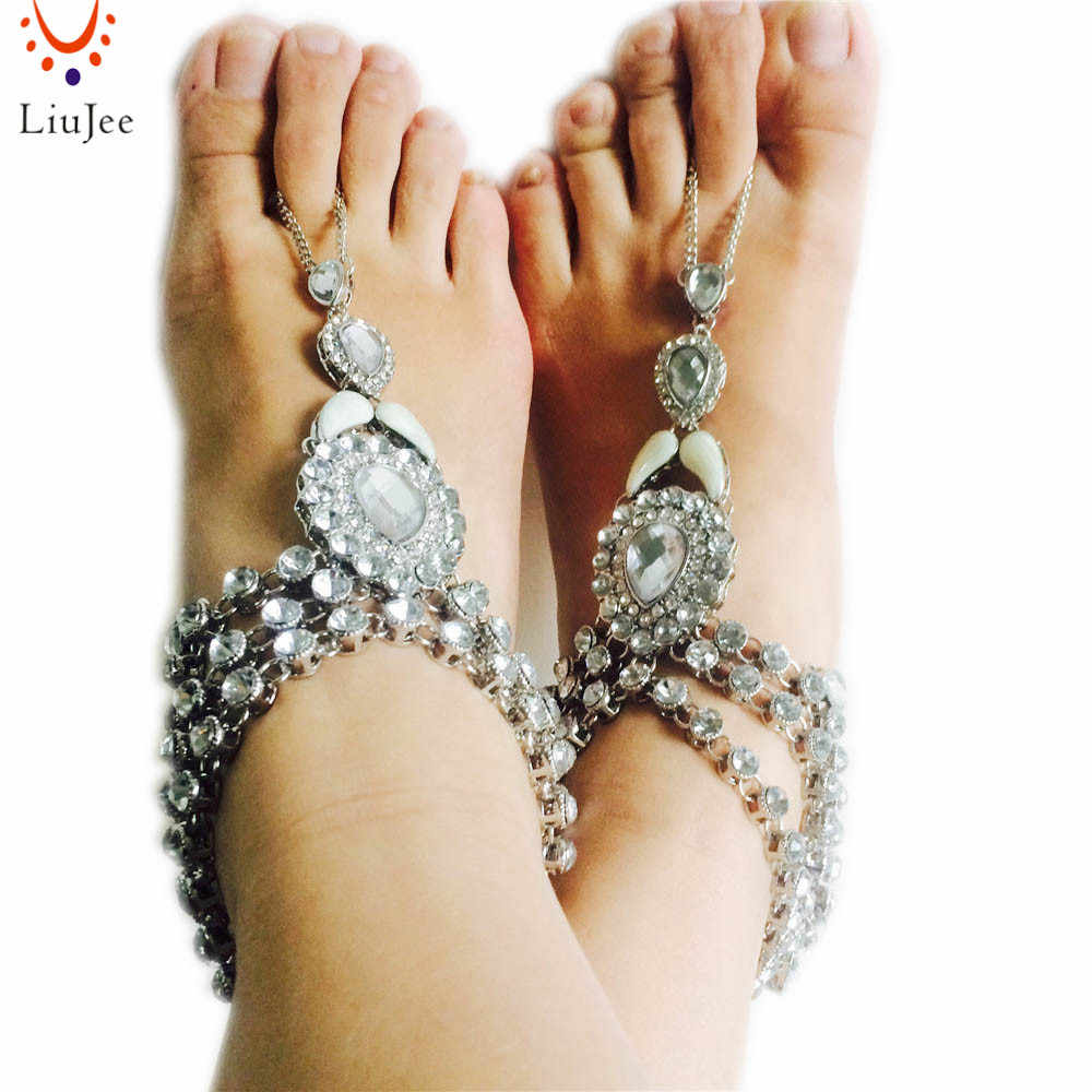 3105f48d5775ea ... Luxury New Fashion Bridal Barefoot Sandals Wedding Shoes