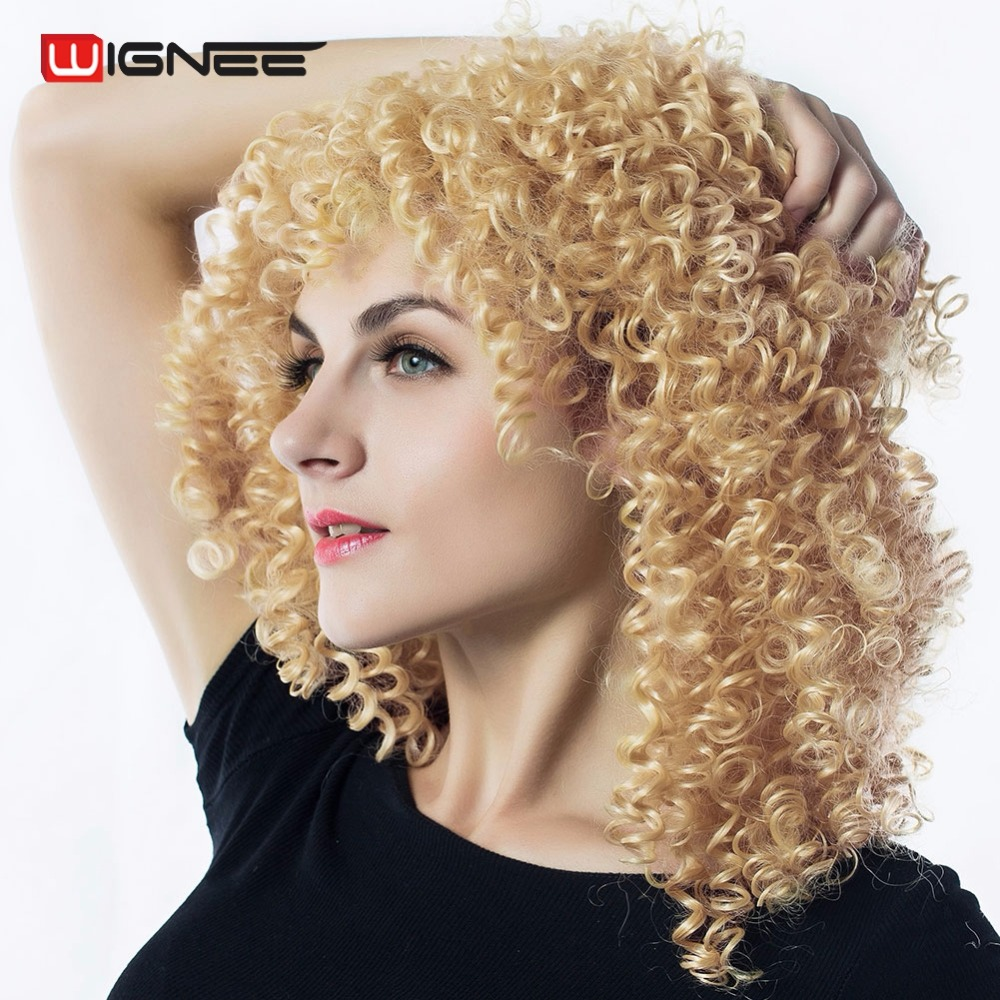 Wigs Curly Blonde Hair