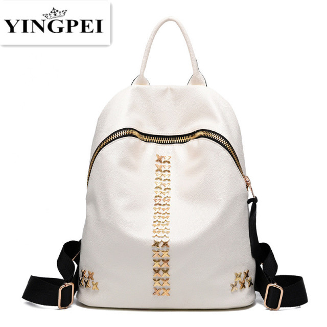 Leather Backpacks Women Schoolbags For Teenagers Girls Black Travel Shoulder Bag Waterproof Packbag 2016 Mochila Feminina