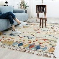 Шерсть хлопок килим ковры геометрический Богемия индийский серый плед Марокко полосатый современный дизайн Иран скандинавск
