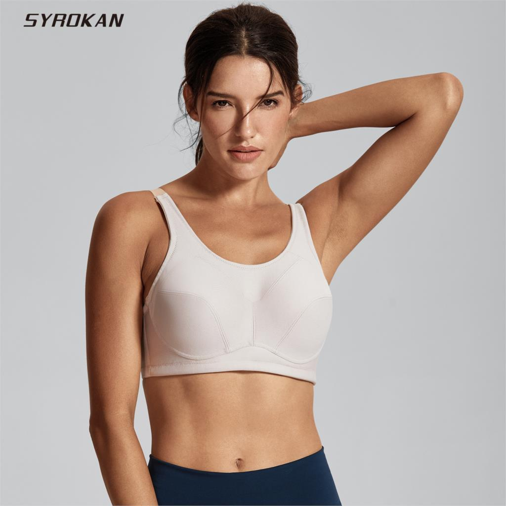 62616301ae Detail Feedback Questions about SYROKAN Women s High Impact Support Plus  Size Coolmax Underwire Workout Sports Bra on Aliexpress.com
