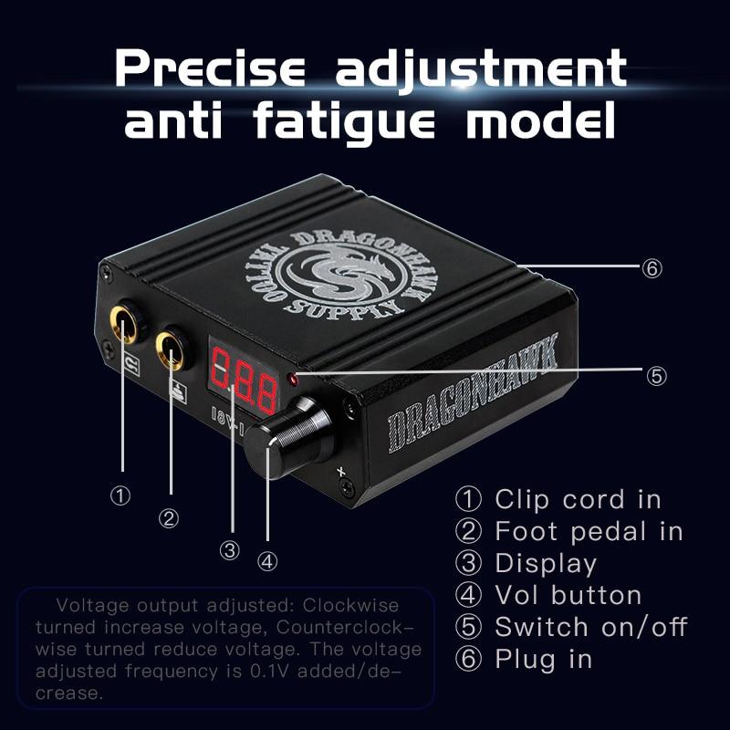 Top Quality Mini Tatu Peti Kuasa Dragonhawk LCD Untuk Mesin Tatu - Seni tatu dan badan - Foto 4