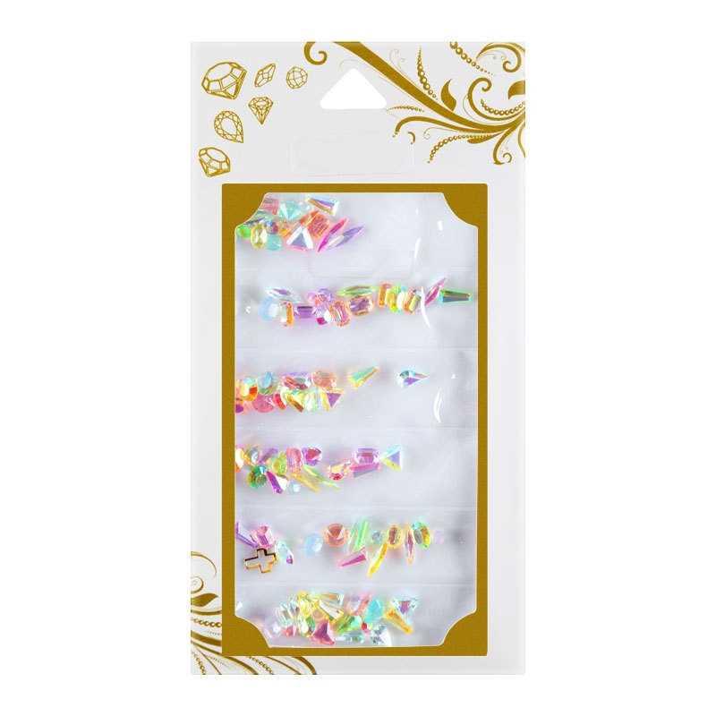 1 パック AB 売春ガラス爪ラインストーンダイヤモンドティアドロップ馬の目クリスタル石マニキュアの装飾光沢のある宝石