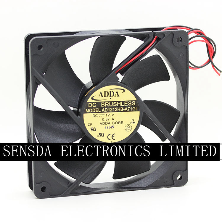 ADDA fan AG12024XB257100 24V 0.46A  120*120*25mm 2pin
