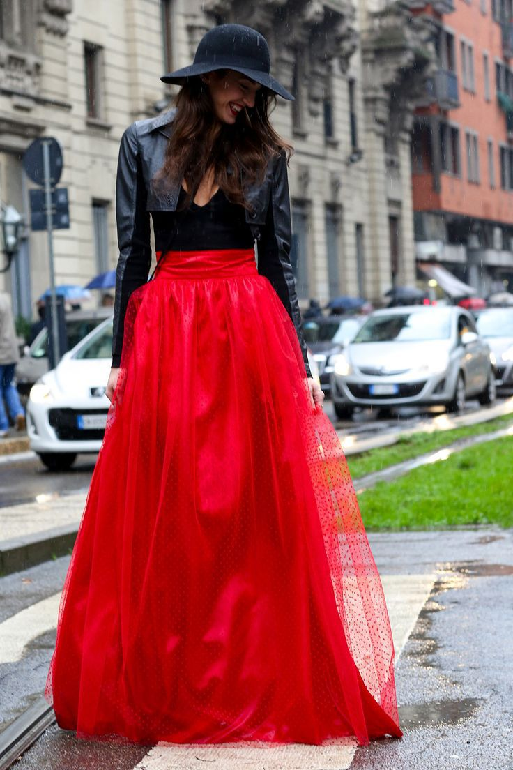 Aliexpress.com : Buy Top Fashion Red Tulle Skirt Trendy Skirts ...