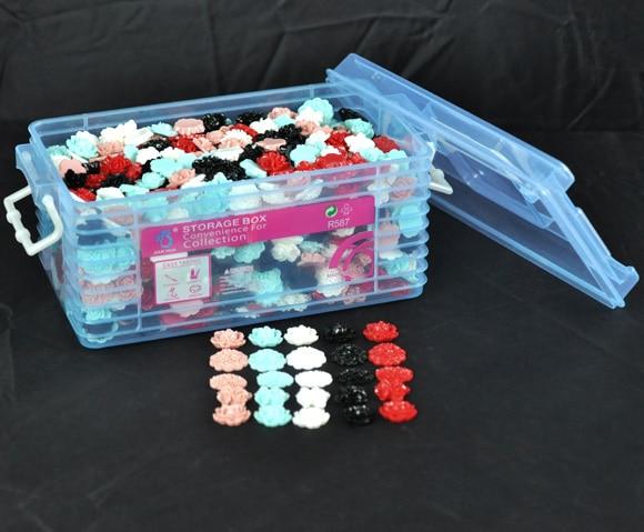 1000 pcs 혼합 스타일 수 지 꽃 장식 공예 비즈 플랫 백 카보 숑 스크랩북 diy embellishments 액세서리 (1 boxes)-에서장식부터 홈 & 가든 의  그룹 1
