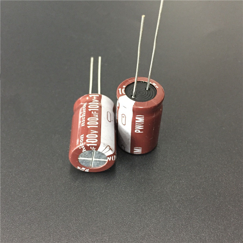 5pcs 100uF 100V NICHICON PW Series 13x20mm Low Impedance 100V100uF Aluminum Electrolytic Capacitor