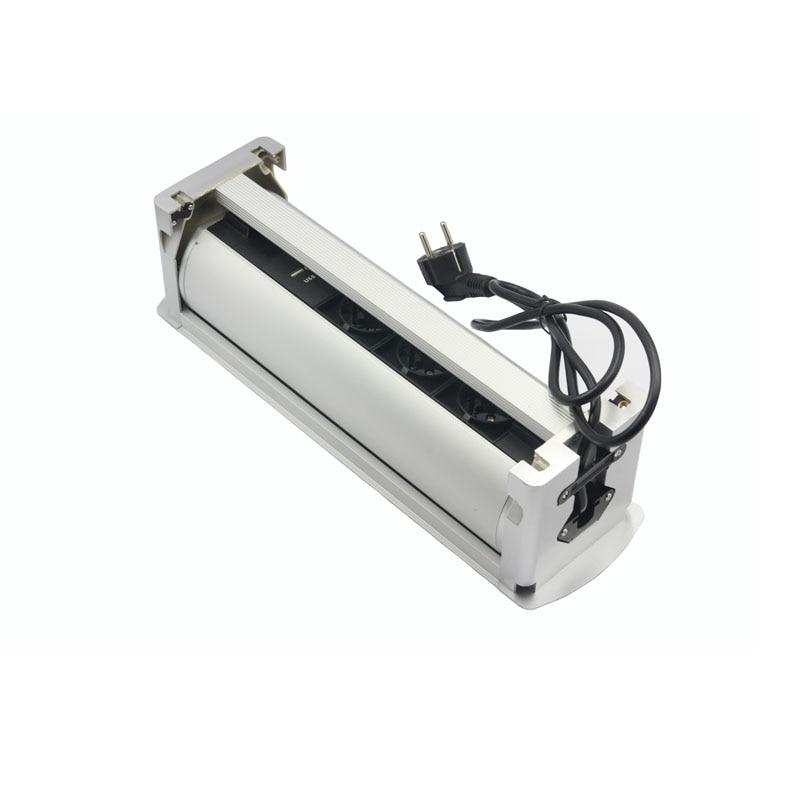 Rotation de retournement électrique automatique prise 180 degrés 3 prises de courant EU + Ports de chargeur USB - 3