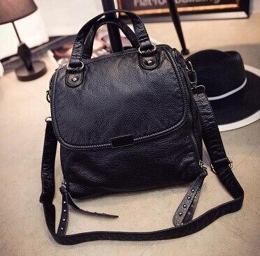 Sac femelle simple style doux waterwashed en cuir de mode sac vintage de messager d'épaule sac hh5985ers