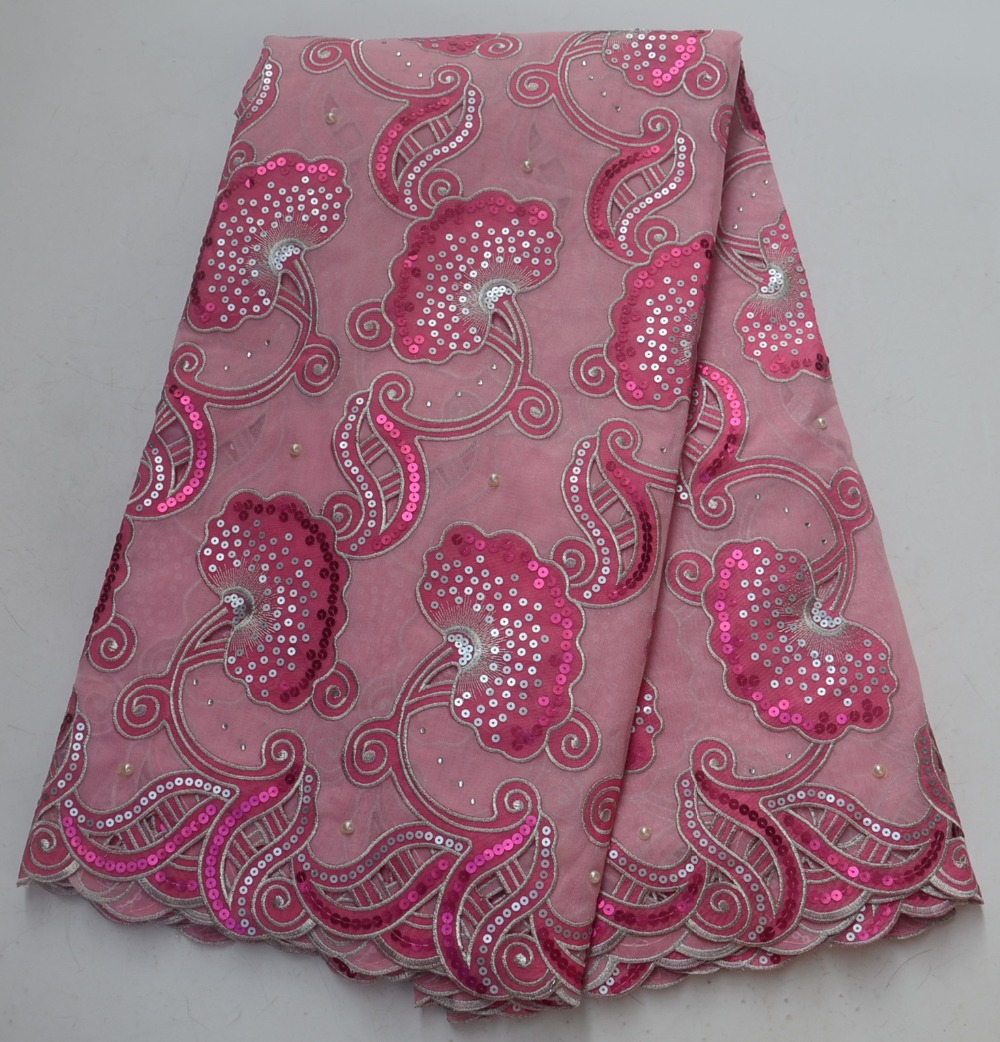 African Lace Fabric High Quality Double Organza Lace For Nigeria Party Dress Best SellingAfrican Lace Fabric High Quality Double Organza Lace For Nigeria Party Dress Best Selling