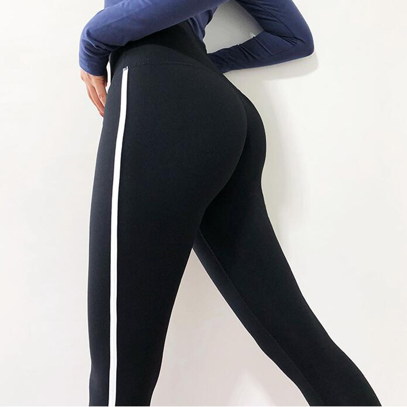 High Waisted Red Moto Fitness Yoga Pants for Women Big Booty Gym Leggings Sports Running Workout Pants Compression Sport Tights 5