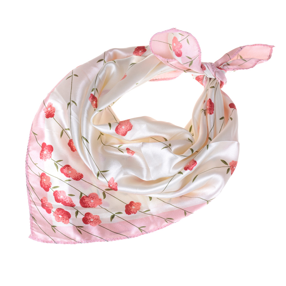 13 Style Soft Silk Square Scarf Bandanas Head Wrap Shawl Satin Stewardess Female Elegant Scarves scarf 50* 50cm