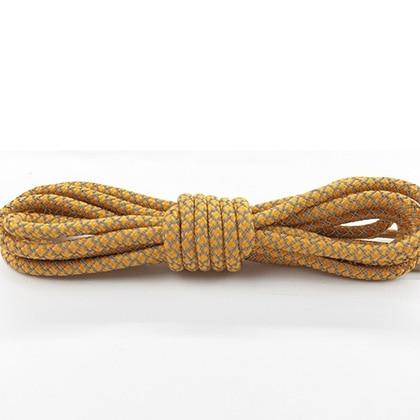 Leyou 100-160cm люминесцентная лампа кроссовки шнурки спортивные шнурки 3м Reflective круглые веревочные шнурки светлые шнурки Led - Цвет: Dark  yellow