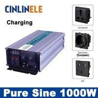 Universal Inverter UPS Charger 1000W Pure Sine Wave Inverter CLP1000A DC 12V 24V 48V To AC