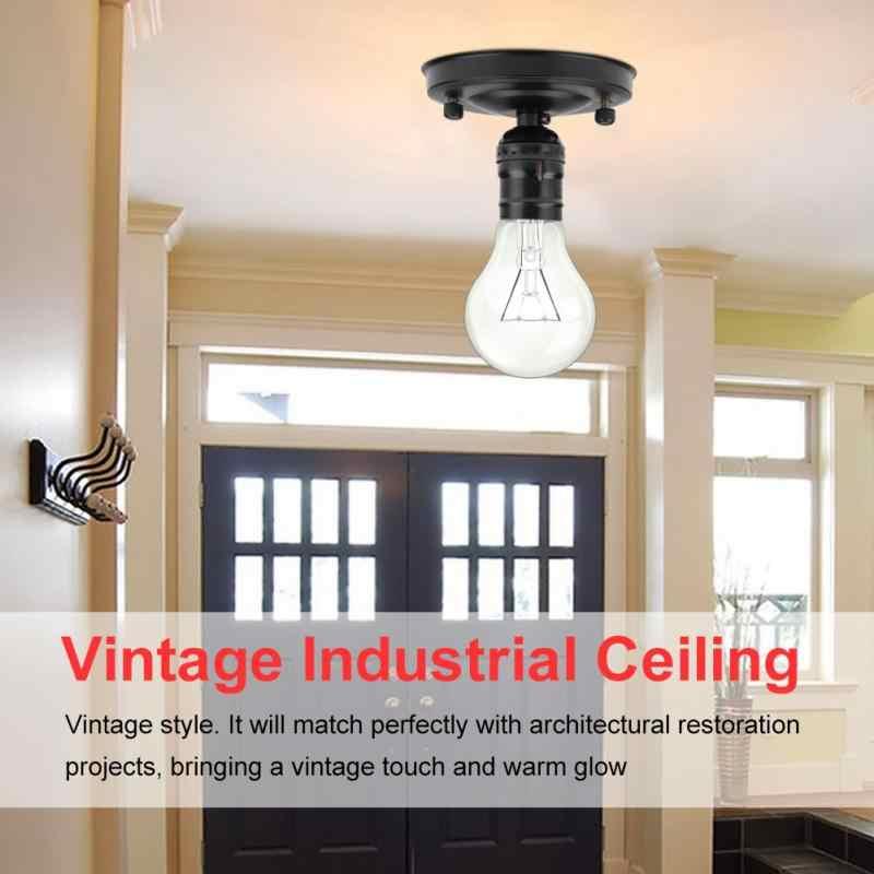E26/E27 винтажный промышленный держатель для лампы, Потолочный настенный светильник, базовый держатель, Подвесная лампа, винтовой патрон, светильник, аксессуары