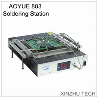 New AOYUE 883 soldering station 110V/220V with 668 PCB holder IR table preheated rebel reflow station heating plate