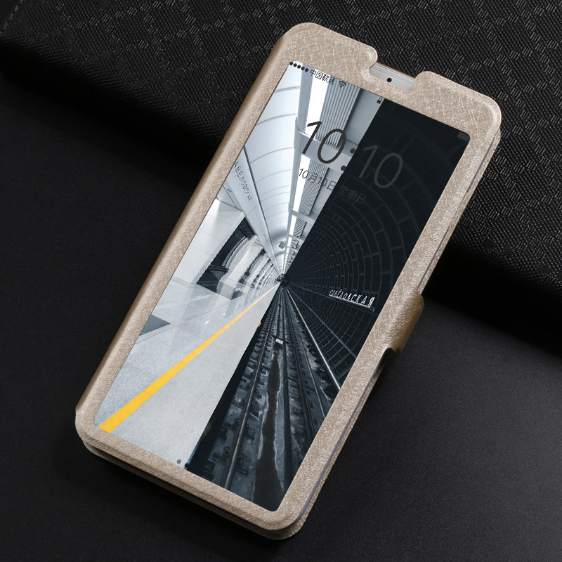 A6 2018 Flip View Window Case For Fundas Samsung Galaxy A6 2018 Case For Coque Samsung A6 Plus 2018 Cover Stand phone bag Cases