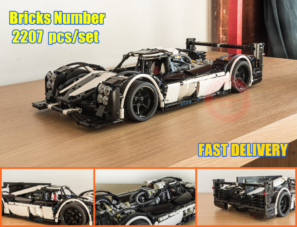 цена на New Technic MOC-5530 Hybrid Super Racing Car fit legoings technic city Model Building Blocks Bricks Toy DIY Birthday kid Gift