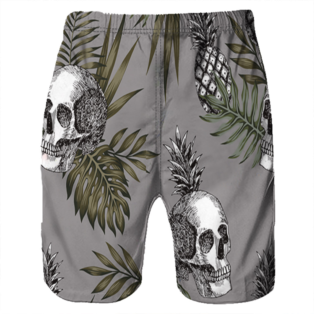 CHAMSGEND   Shorts   Men's   Board     Shorts   Surfing Trunks 3D Skull Printing Patchwork Beach   Shorts   Swimwear Male   Short   Pants 2.Feb.12
