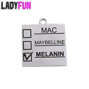Image 1 - Ladyfun Aanpasbare Rvs Charm MAC Hanger Melanine Makeup Mac Maybelline Melanine Bedels Voor DIY Sieraden Maken