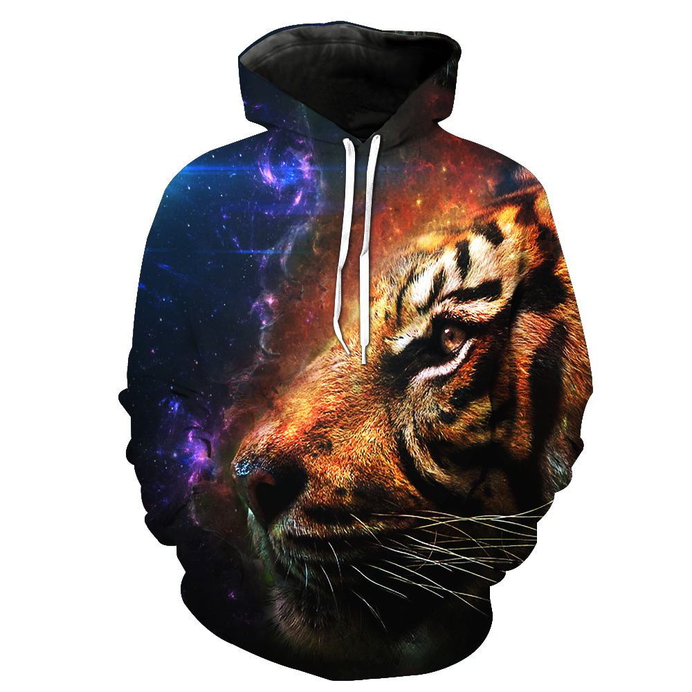 MWBAY 3D Animal Sweatshirts Men/Women Hoodies with Hat Print Couple Spring Autumn Winter Loose Thin Hooded Hoody Tops