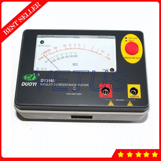 DY3165 550V 2000M ohm Analogue Megger Insulation Tester with Electronic pointer type clearaudio professional analogue toolkit