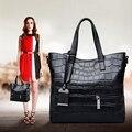 ГОРЯЧАЯ, ZOOLER женщины кожаная сумка крокодил шаблон из натуральной кожи плеча мешок большой емкости bolsa feminina 0-profit продаж!! #931