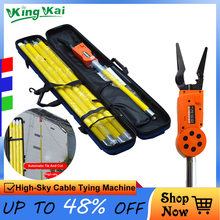 12V 6000mah Lithium Battery Electrician Long Distance Control Automatic High Sky Electric Wire Cable Tying Machine(China)