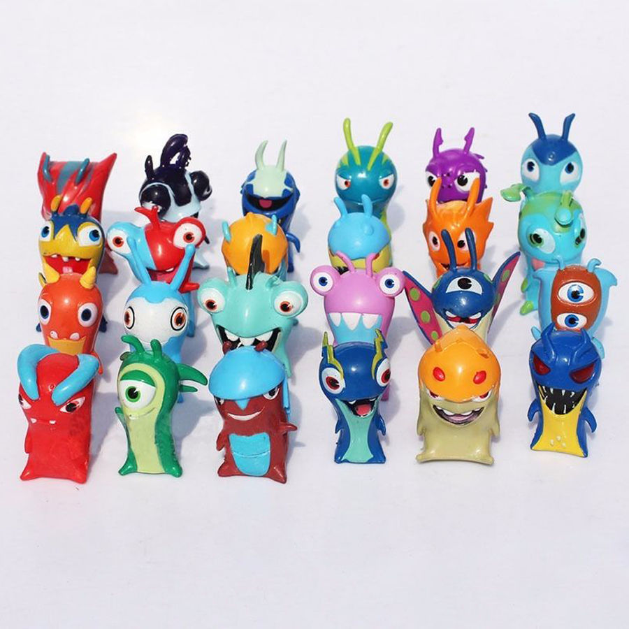 24 PCS Action Figure Toy Pvc Collections Christmas Models For Slugterra Elemental Slugs