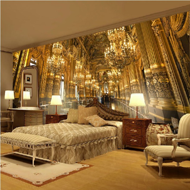 European palace luxury modern TV sofa backgrund fresco custom 3d dining wallpaper large murals wall covering bedroom living room book knowledge power channel creative 3d large mural wallpaper 3d bedroom living room tv backdrop painting wallpaper