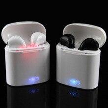 IYRUNIXNUHS i7s Headphons TWS Mini Fones de Ouvido Bluetooth Esporte fone de Ouvido Sem Fio Estéreo Com Microfone Caixa de Carga Para O Telefone xiaomi