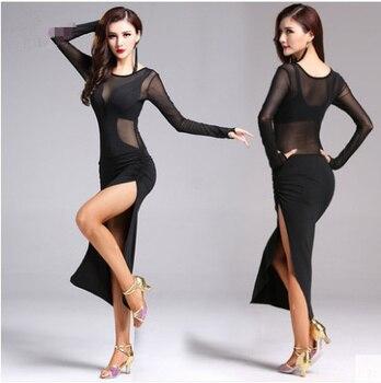 ad87a40db Adulto vestido de baile latino para mujer 2018 nuevo traje Samba latina  baile traje de baile de Tango vestidos de baile de Salsa ropa para mujeres