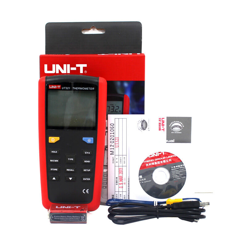 UNI T UT321 Contact Type Termometers Range 150~1375 USB Interface Industrial Temperature Test Selection