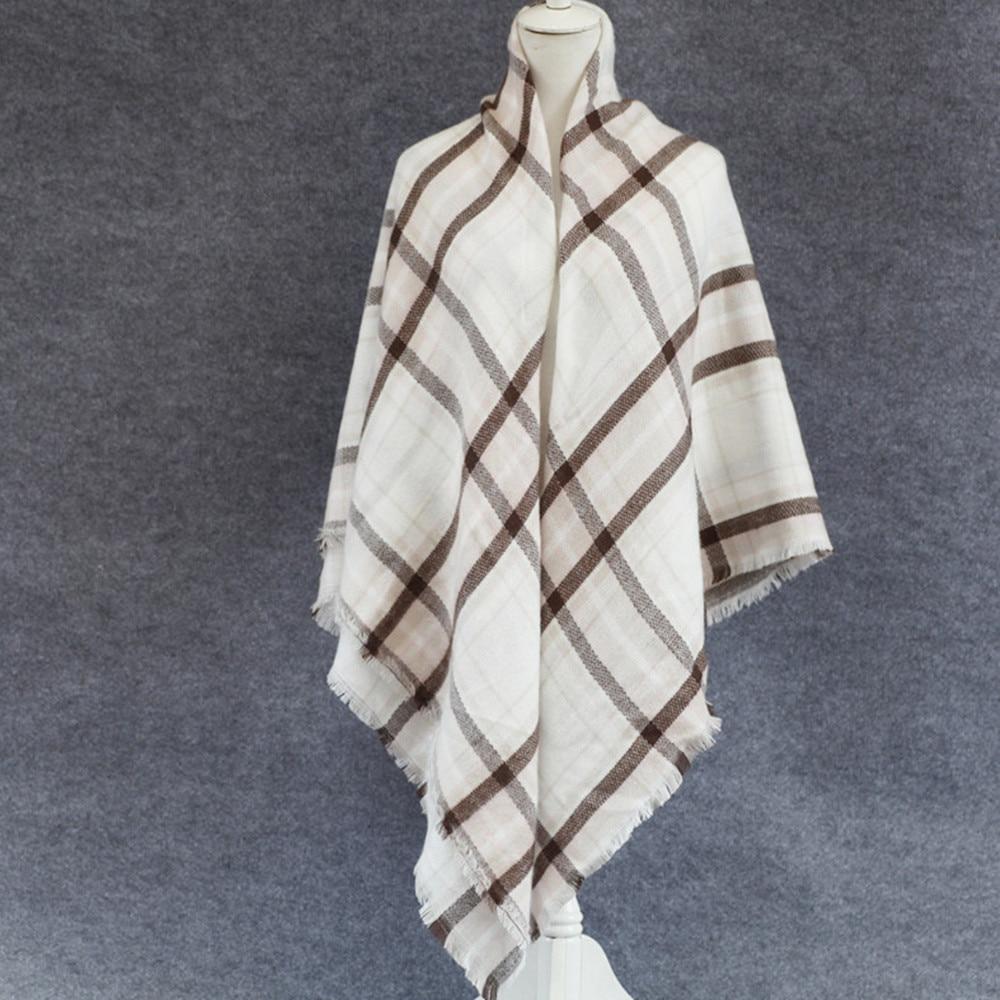 Ode To Joy High Quality brand Plaid Scarf Women soft Cashmere Winter Scarf Female Warm