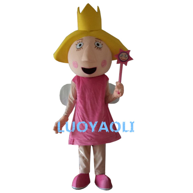 Lovely Smiling Face Magic Girl Cartoon Costume/Pink Girl Cartoon Costume