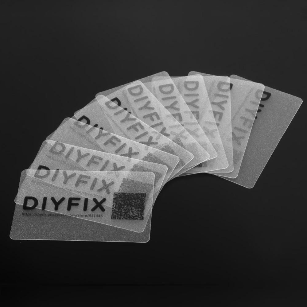 DIYFIX 10pcs Plastic Card for Mobile Phone Pry Opening Scraper for iPad Tablets PC Teardown Repair Tool