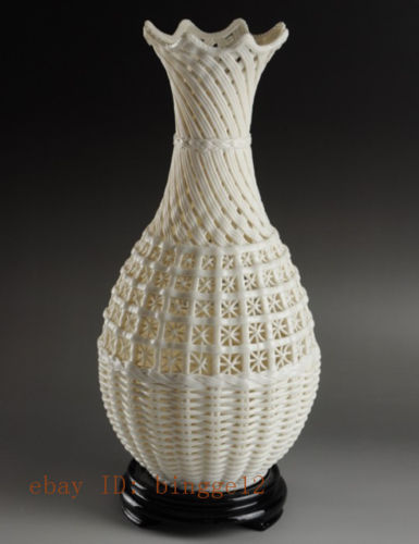 Graži kinų derliaus rankų darbo balta porcelianinė - Namų dekoras - Nuotrauka 2