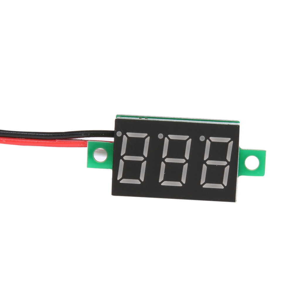1pcs Digital Voltmeter High Quality 0.36inch LED <font><b>DC0</b></font>-<font><b>100V</b></font> Three Line Volt Meter Tester For Home Use Red Green Blue Optional image