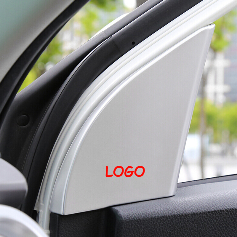 For <font><b>Toyota</b></font> <font><b>RAV4</b></font> RAV 4 2016 2017 <font><b>2018</b></font> ABS Matte/Red Car interior A-pillar Speaker horn ring Cover Trim <font><b>Accessories</b></font> 2pcs image