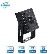 Wheezan IP Güvenlik Kamera Mini 5MP H.265 Gözetim ev Kapalı DC12V ONVIF P2P Ses 3.7mm Lens HD 1080P CCTV POE Kamera