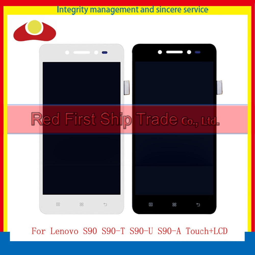 5.0 For Lenovo S90 S90-T S90-U S90-A Full Lcd Display With Touch Screen Digitizer Assembly Complete Black White+Tracking Code compatible lcd for lenovo s90 lcd display touch screen digitizer panel assembly with frame replacement s90 t s90 u s90 a tools