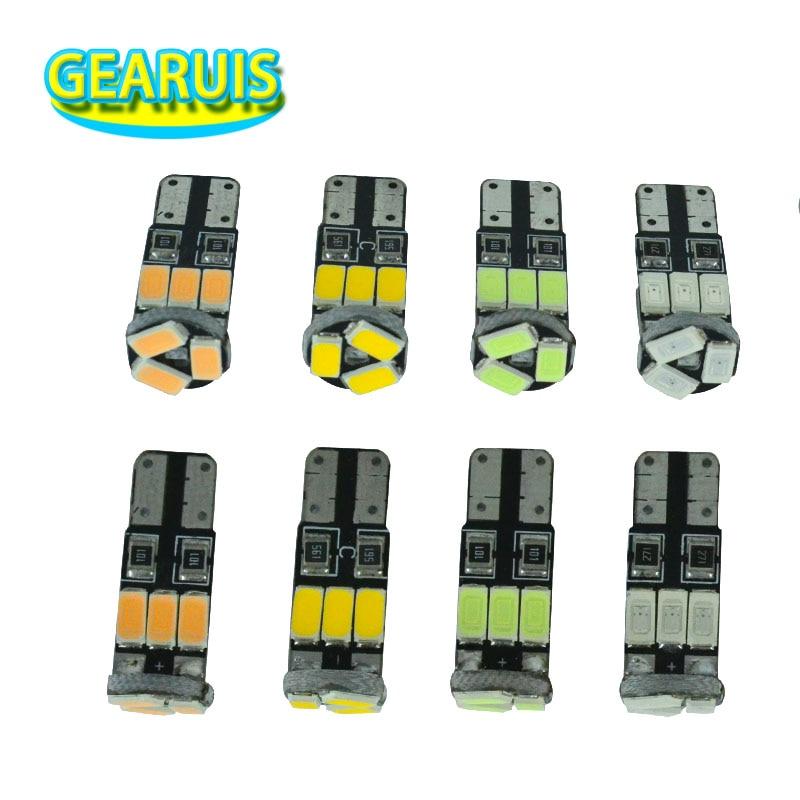 100pcs Car T10 W5W 1W LED 9 SMD 5630 5730 90MA 501 Dome Parking Lights Car