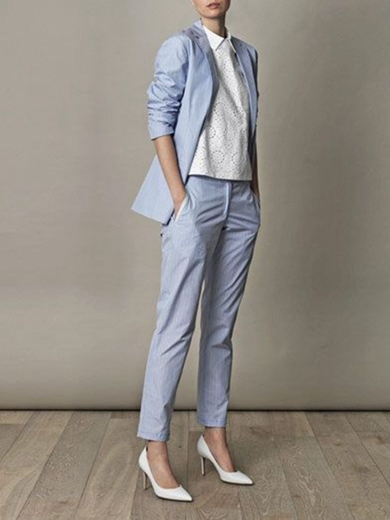 The New Fall fashion suit suit female career suit jacket and long sections temperament casual two-piece /1set +pants tide
